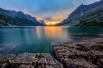 Canvas-taulu St. Mary Lake Glacier National Park 2762