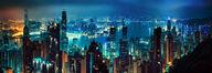 Canvas-taulu Hong Kong night 281