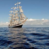 Canvas-sisustustaulu Suuri purjelaiva 1808