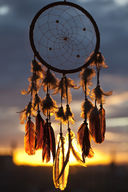 Canvas-taulu Unisieppari auringonlasku taustalla 2406