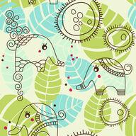Canvas-taulu Pieni elefantti puutarhassa 2847