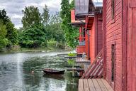 Canvas-taulu Porvoonjoki ja rantavajat 3056
