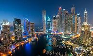 Canvas-taulu Panoraamanäkymä Dubai Marina 3070